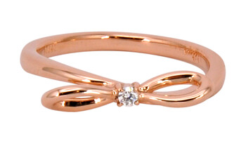 Solvil et Titus 15.6mm Bow Ring, Sterling Silver, Rose-Gold Tone Plated