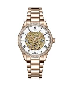 Exquisite三針自動機械不鏽鋼腕錶