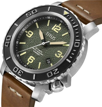 The Cape 3 Hands Date Mechanical Leather Watch
