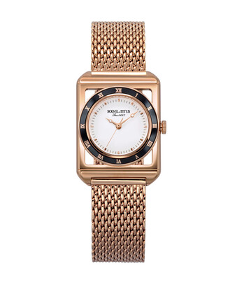 The Letter 3 Hands Quartz Stainless Steel Watch