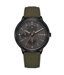 Nordic Tale多功能石英尼龍錶帶腕錶