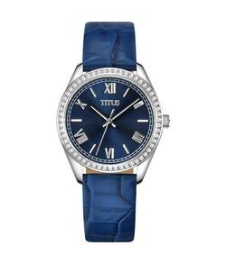 Fair Lady三針石英皮革腕錶