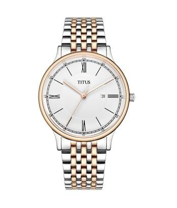 Classicist三針日期顯示石英不鏽鋼腕錶