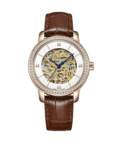 Exquisite 3 Hands Mechanical Leather Watch