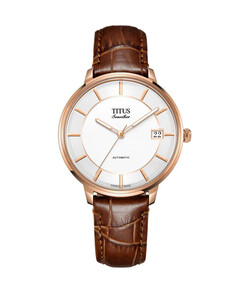 Sonvilier Swiss Made 3 Hands Date Mechanical Leather Watch