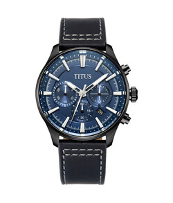 Saber計時石英皮革腕錶