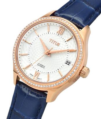 Silverlight 3 Hands Date Mechanical Leather Watch