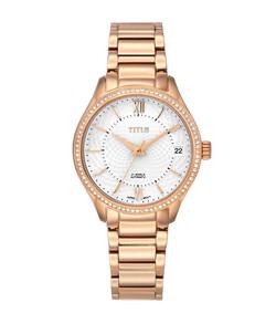 Exquisite三針日期顯示自動機械不鏽鋼腕錶