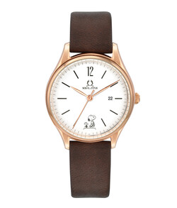 Solvil et Titus x Peanuts 3 Hands Date Quartz Leather Watch