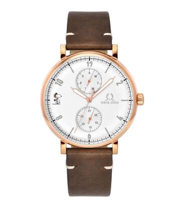 Solvil et Titus x Peanuts Multi-Function Quartz Leather Watch