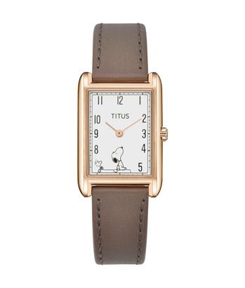Solvil et Titus x Peanuts 2 Hands Quartz Leather Watch