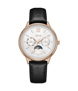 Fashionista Multi-Function Quartz Leather Watch