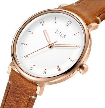 Nordic Tale 3 Hands Quartz Leather Watch