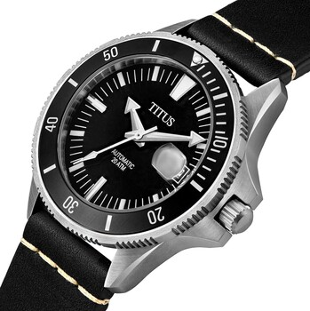 Valor 3 Hands Date Mechanical Leather Watch