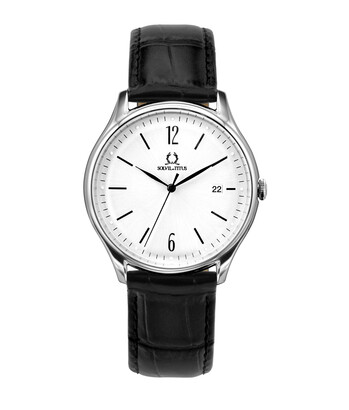 Muse 3 Hands Date Quartz Leather Watch
