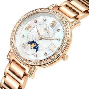 Fair Lady 3 Hands with Day Night Indicator Quartz Stainless Steel Watch