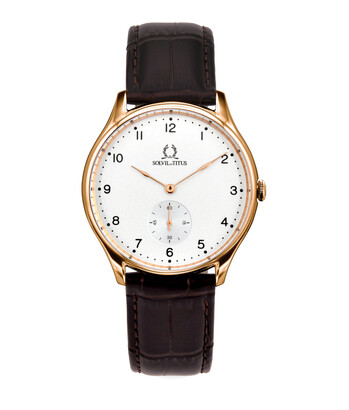 Muse 2 Hands Small Second Quartz Leather Watch
