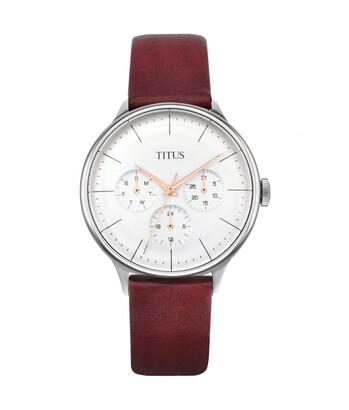 Muse多功能石英皮革腕錶
